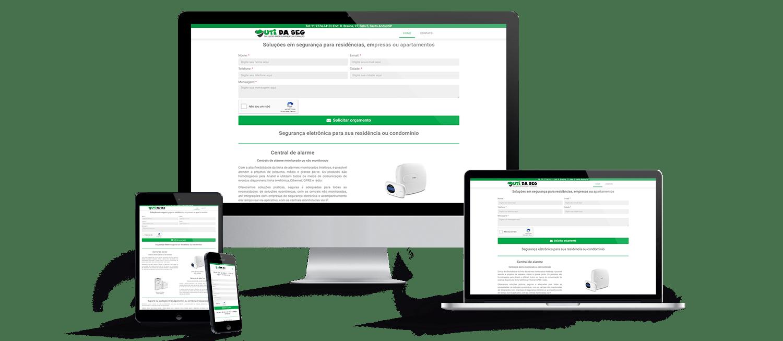 Criação de sites uti da seg soluções em segurança e automação